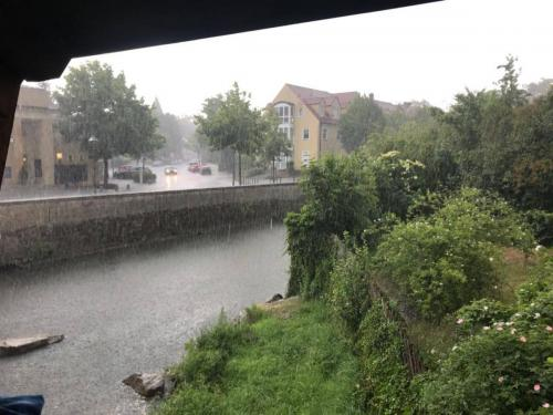 Trotz starkem Regen...